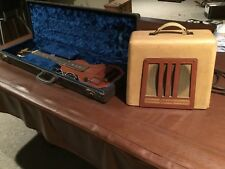 1940-42 Gretsch electromatic Hawaiian steel lap guitar and a gibson amp