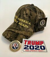 President Donald Trump Hat ..Make America Great Again.. MAGA ..Camo + 2 Decals
