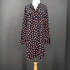 GAP Dress S Polka Dot Shift Orange Microfiber Tunic Blue