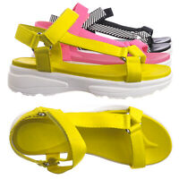 Catch02 Hook & Loop Sporty Cushioned Footbed Sandal - Women Web Strap Flatform