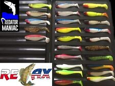 "relax kopyto 4"" (10cm) pack of 25 lures+ 5 jig heads. pike.perch,zed,lure"