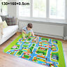 130x160cm Children's Road Map Kids Play Mat Race Car Rug Runner Nursery Home UK