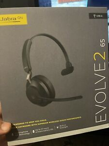 Jabra Evolve2 65 UC Mono (USB-A)  Black Headset w/ 40mm Speakers (2659-988-9999)