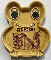 1960's Six Flags Over Texas Frog Shaped Trinket Dish Souvenir Log Ride Japan