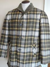 Vintage ZERO KING Cordoroy / Wool Plaid Jacket Coat Mens 42 Large Hunting Fishin