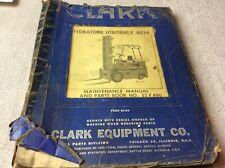 Clark Equipment Manual Hydratork Utilitruc F 8024 Maintenance Amp Parts Book