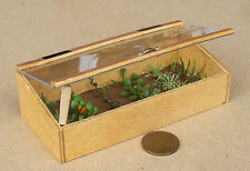 1:12 Scale Wooden Cold Frame Dolls House Garden Vegetable Plant Food Accessory