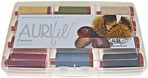 AURIFIL THREAD CHESTNUT COLLECTION 100% COTTON LARGE SPOOLS 50 WT