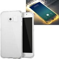 Custodia luminosa cover led flash conduzione luce p Samsung Galaxy S6 Edge G925F