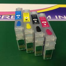 Set Empty Refillable Ink Cartridges Epson Stylus S22 SX125 SX130 SX225W Printers