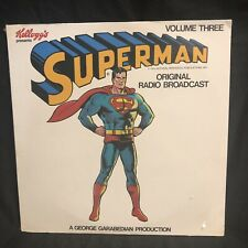 Superman Original Radio Broadcast Record LP 1974 Sealed Volume Three