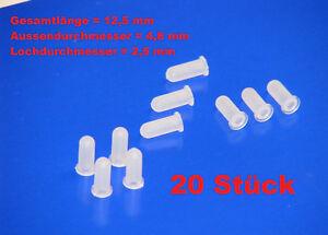 20 x Tüllen Befestigungstüllen für Schriftzug / Emblem AUDI 80 AUDI 100