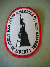 1986 patch commemorating the Statue of Liberty