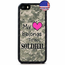 Wife Girlfriend Love Soldier Army Camo Case iPhone Xs Max XR X 8 7 6 Plus 5 4