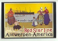 ad3869 - Red Star Line Steamer - Antwerpen to New York -  Modern Advert Postcard