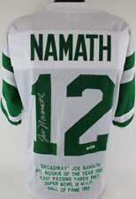 Joe Namath Signed New York Jets Custom Stat Jersey Steiner COA