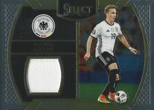2016-17 PANINI SELECT SOCCER MARIO GOTZE GERMANY PLAYER WORN JERSEY CARD