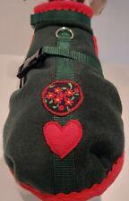 Wintermantel Trachtenmantel Hundemantel grün Herz Alpenrose Stoff Borte Tracht