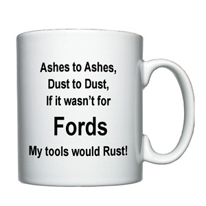 Mechanic Ford Tractor / Car Joke Personalised mug