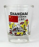 SHANGHAI CHINA LANDMARKS AND ICONS COLLAGE SHOT GLASS SHOTGLASS