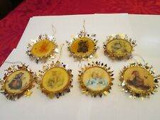 7-pc Lot Vintage Hummel Christmas Collection Ornaments 24K Gold Plated