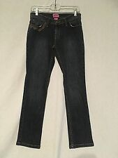 EUC STEVE & BARRY'S DARK WASH DENIM WOMEN'S LOW SIZE 4 SHORT SKINNY LEG JEANS