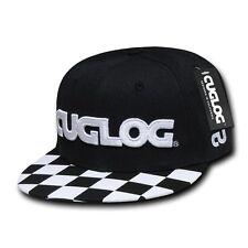 CUGLOG Checker 6 Panel Retro Flat Bill High Crown Snapback Caps Hat Cap Hats