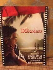 The Descendants Shooting Script Screenplay by Alexander Payne 2011 Acceptable