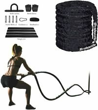 Brobantle 2'' 30ft Heavy Battle Rope Workout Equipment Home Gym Fitness Exercise