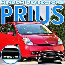 Toyota Prius 2004-2009 Side Window Vent Deflectors with Logo - Sun Visor Guard