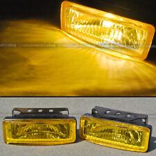 For Miata 5 x 1.75 Square Yellow Driving Fog Light Lamp Kit W/ Switch & Harness
