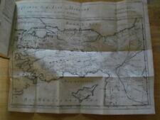 HISTOIRE DES JUIFS ET DES PEUPLES VOISINS T.V PRIDEAUX 1726 CARTE ASIE MINEURE