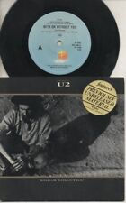 "U2   Rare 1987 Aust Only 7"" OOP L/Edit Stickered Rock P/C Single ""Without You"""