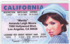 Mandy Moore Los Angeles Ca California Drivers License