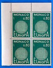 BLOC DE 4 TIMBRES   MONACO  N° 820 EUROPA   NEUF **  MNH BD63