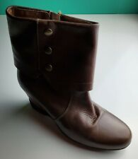 Sanita Maddox Women's Brown Leather Mid Calf Boots Size 40 / 9.5