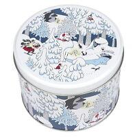Moomin Tin Box Round Winter Land Martinex 10 x 14 cm