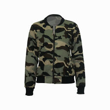 Winter Fashion Women's Long Sleeve Camouflage Jacket Casual Autumn Coat Outwear