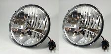 "Pair 5 High Power LED 7"" Dual Function Headlight Hi/Low Lamp - Chrome UPI 31391"