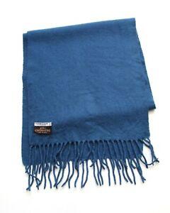 Vintage Yves Saint Laurent 100% Cashmere Scarf Blue