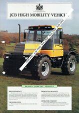 JCB High Mobility Vehicle 2 pge colour leaflet /Brochure 1990?
