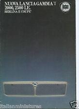 Lancia Gamma 2000 2500 I.E. Berlina E Coupe Brochure Italian Language