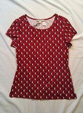 NWT Uttam Boutique Women's Red Top Size UK 12 US 6/8