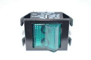 NEW Eaton 2600G11E Rocker Switch,DPST,ON-NONE-OFF,125V Neon Lamp,Green Actuator,