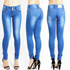 Cotton Blend Low Rise Jeans for Women