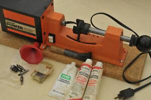 Lyman Universal Power Case Trimmer Motorized Reloading Ammo + 10 pilots & brush