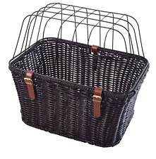 Ammaco Polyrattan Pet Carrier Bike Large Dog Puppy Cage Shopping Rear Basket