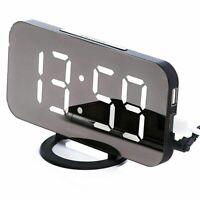 Sveglia Digitale - Elegante Orologio A Led con Porta USB, Ampio Display, Re J6M2