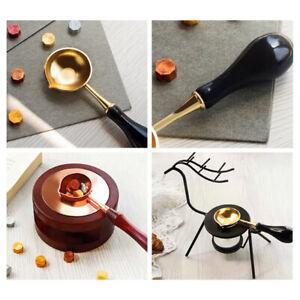 Wax Stamp Sealing Seal Set Furnace Stove Pot Sticks Warmer Spoons Melting Kit✅