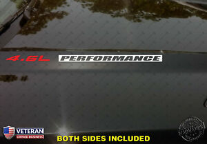4.6L PERFORMANCE Hood Vinyl Decals Stickers Fits: Ford Mustang GT F150 SVT
